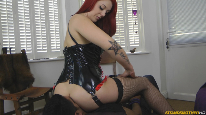 2 domina wrestling and smothering a wimp 3